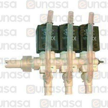 Electrovalvula 3 Modulos 24V Dc Derecha
