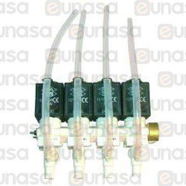 Electrovalvula 4 Modulos 24V Dc Izquierda 1/