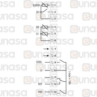 Termostato Digital 3 Relés 230V Ac D14632