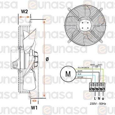 Ventilador HRB/4-350 Bpn 230V 50/60Hz Asp