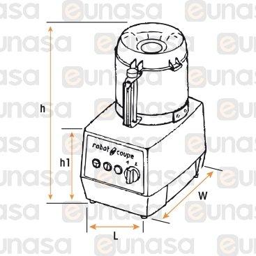 Taglierina Da Tavola 2.9L 550W 230V 1500rpm R