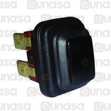 Pulsador Negro 250V 16A 19x13mm 1NO