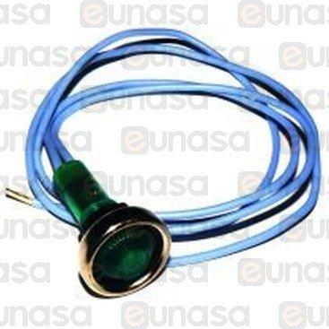 Piloto Verde Ø10mm 230V Con Cable