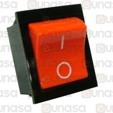 Amber Switch 30x22mm 16A 250V