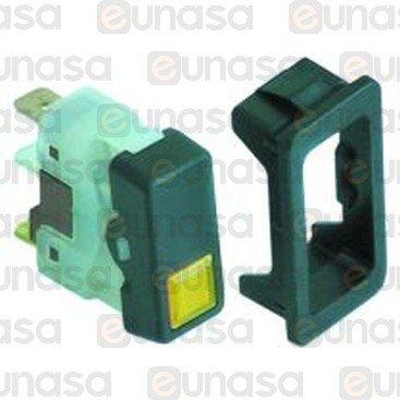 Interruptor 230V 6,3mm Amarillo