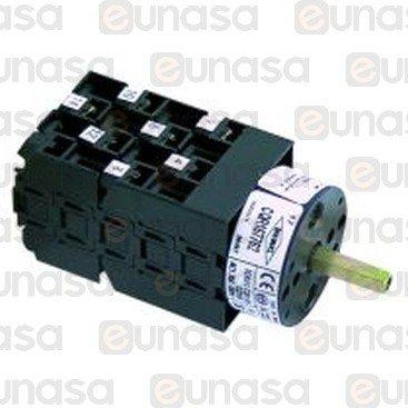 Interruptor 4 Posiciones 2 Pulsador 600V 16A