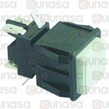 Interruptor Blanco 28x28mm 230V Bipolar