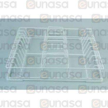 Cesto Platos 500x500x100mm Alambre