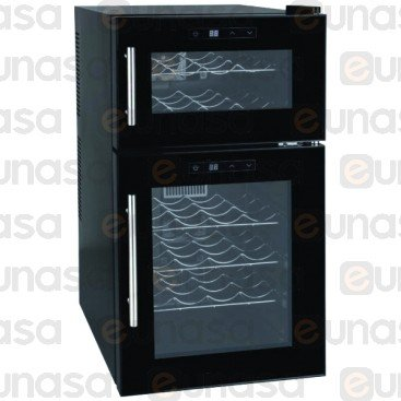 Wine Refrigerated Cabinet 24 Bottles 2 Zones