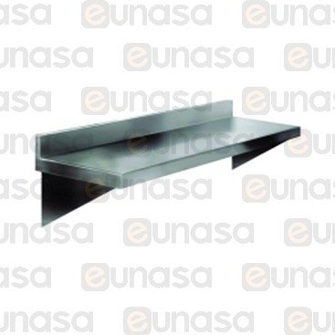 Backsplash St Steel Wall Shelf 1400x300x40mm