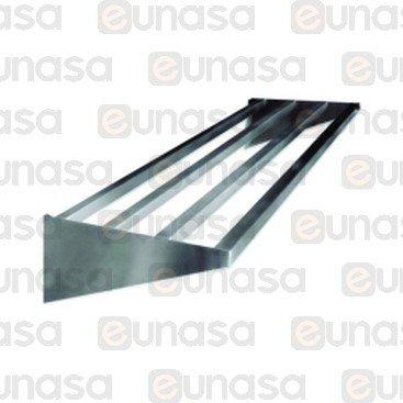 St Steel Pipes Wall Shelf 1200x400x30mm