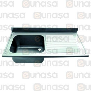 St Steel Sink 1200x600mm Right Hand Drainer