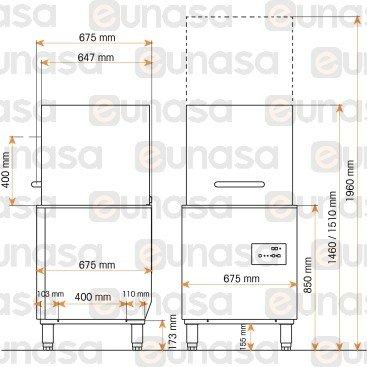 Lavavajillas Capota 500x500mm EASY-H500