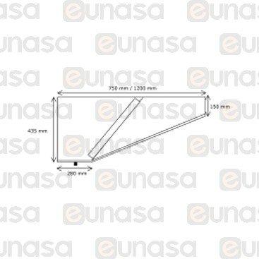 Campana Extractora 1000x750x435mm Eco Plus