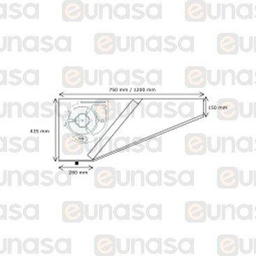 Campana Extractora 1000x750x435mm Monobloc