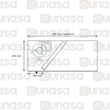 Campana Extractora 1000x750x450mm Eco R