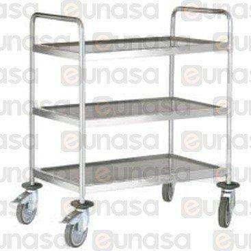 3 Shelves St Steel Cart 880x580x1015mm