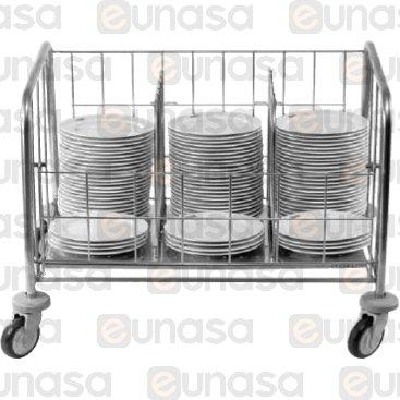 St Steel Dish Trolley 985x710x770mm
