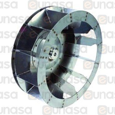Turbina Motor Horno Ø350mm 12 Aletas