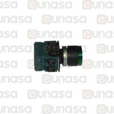 Pulsador Verde 230V T1650