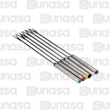 Kit 6 Spine Inox Per Fondue L = 250mm