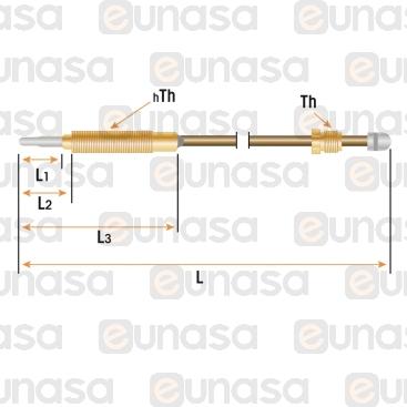 Termopar Cabeza Roscada M8x1 L=1200mm