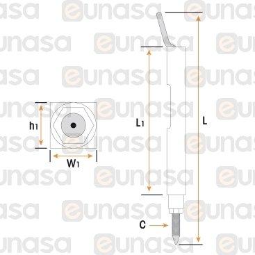 Bujia Encendido Cuadrada 6x7x53mm