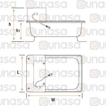 Cuba Evaporación 270x330x101mm 1000W