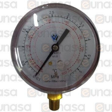 """Manometer Ø80mm R-410A/R-32 1/8""""NPT"""
