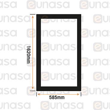 Burlete Magnético 1620x585mm Pvc Negro