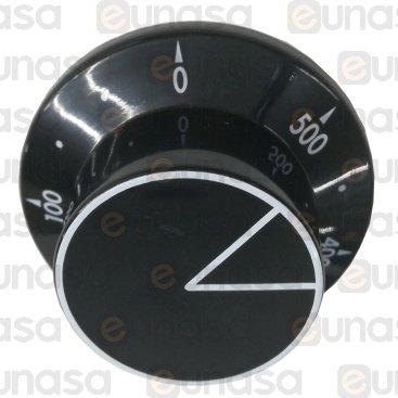 Mando Negro Horno Ø58mm 0/+500ºC