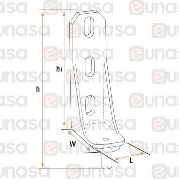 Bisagra Superior 70x42x25mm Armario