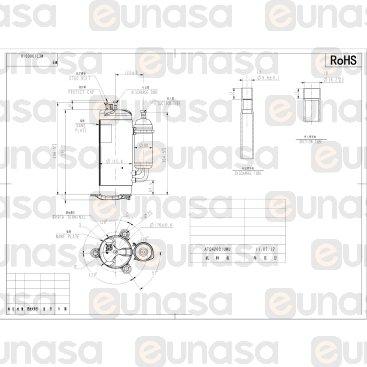 Compresor Hermético Rotativo ATQ420D1UMU 50Hz