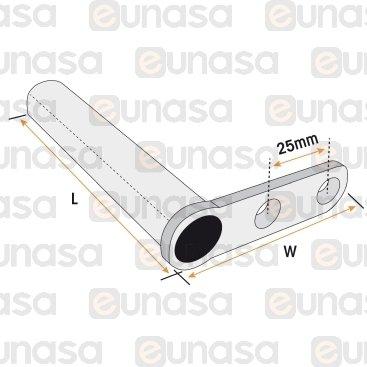 Cuerpo Bisagra Ø18mm L=98mm