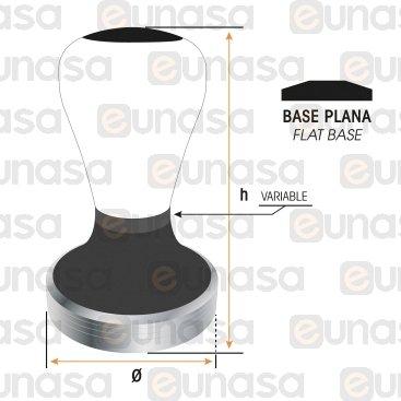 Tamper Ø53mm Blanco  Con Base Plana