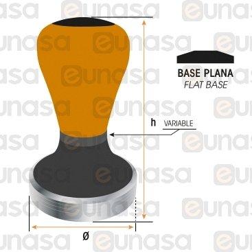 Tamper Ø53mm Naranja Mate  Base Plana