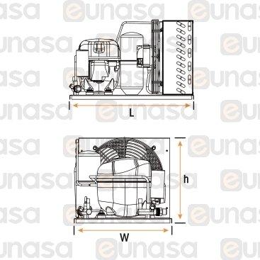 Unidad Condensadora Hermética UNEU2155GK