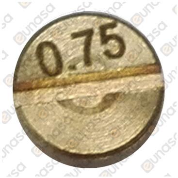 Inyector Ø0.75mm Rosca M5x0.5 PEL20/21