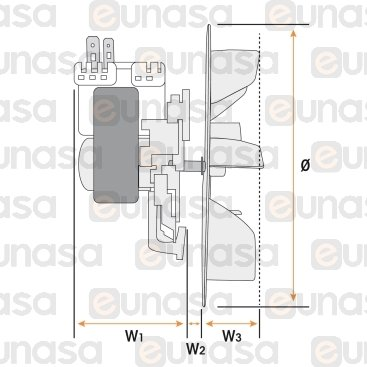 Motor Horno Completo 30W 230V 50/60Hz Ø150mm