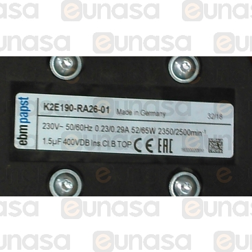 Ventilador Centrífugo 230V 50/60Hz 2350rpm