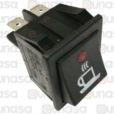 Interruptor 30x22mm 230V Led Con Taza
