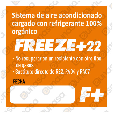 Gas Refrigerante Orgánico FREEZE+22 1000ml