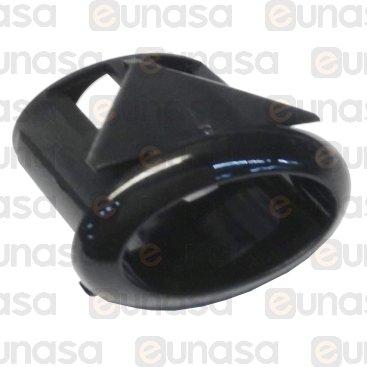 Soporte Botón Negro 21x11mm