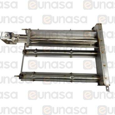 Bruciatore Bar 3 Fili Inox 450x280x65mm