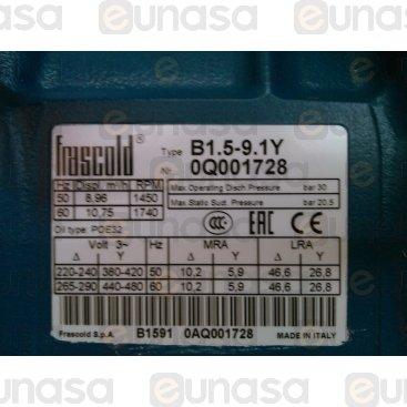 Compresor Semihermético B 1.5-9.1 Y 3F 50Hz