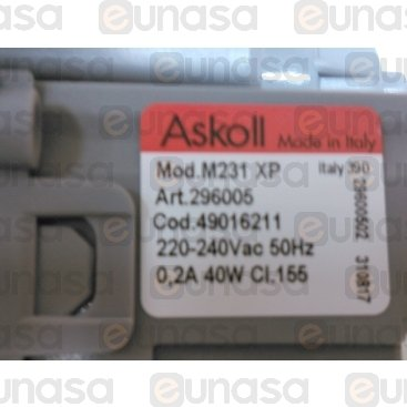 Bomba Desagüe 230V 50Hz 40W Ø30x22mm