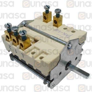 Interruptor 4 Posiciones 230V 32A 1NO/2CO