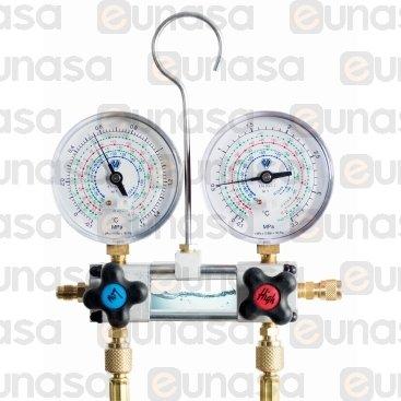 Kit Manómetro Visor R-22/R-134a/R-404/R-407C