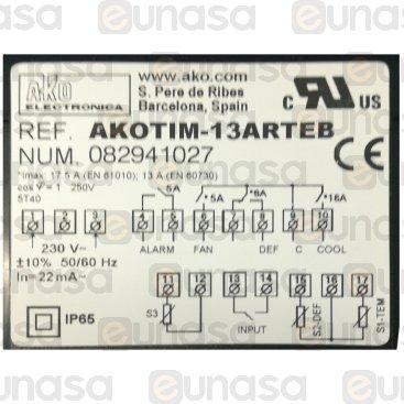 Termostato Digital 4 Relés AKOTIM-13ARTEB