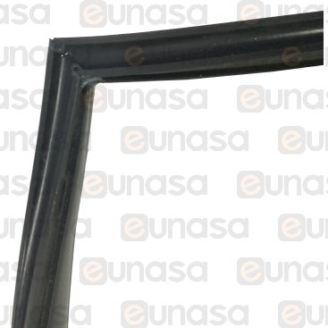 Door Gasket 870x650mm Black Silicone